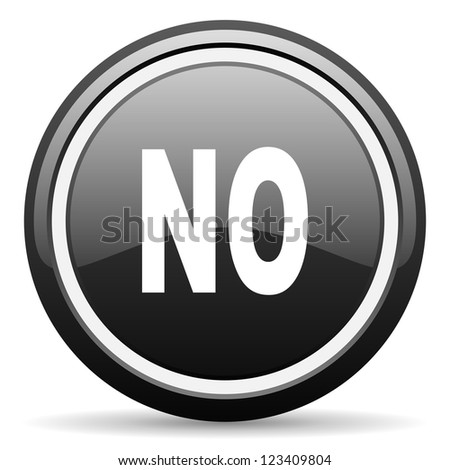 no black glossy icon on white background