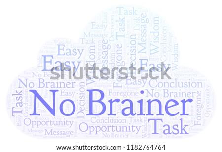 No Brainer word cloud.