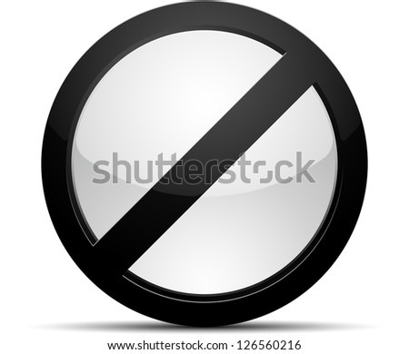 No button - stock photo