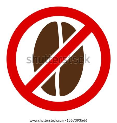 No caffeine v2 raster icon. Flat No caffeine v2 symbol is isolated on a white background.