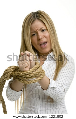 No choice for a woman with hands tied