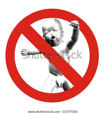 no crying babies allowed sign