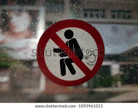No farting allowed. This sticker was found inside a Bangkok taxi. #1093961015