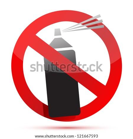 No Graffiti sign illustration graphic design over white