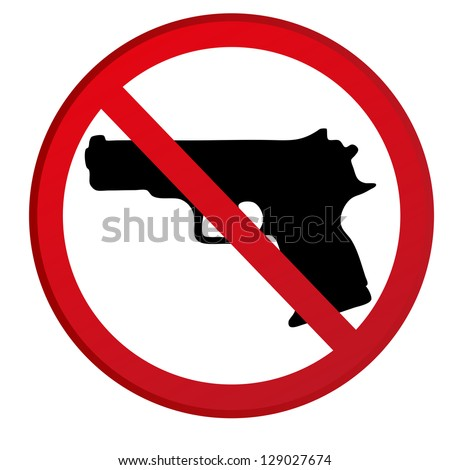 No guns allowed sign . Raster version