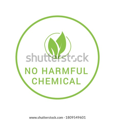 No harmful chemical icon. It is used in natural skin care and personal care products.  Stock photo ©
