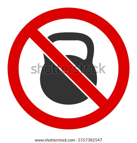 No heavy weight raster icon. Flat No heavy weight symbol is isolated on a white background.