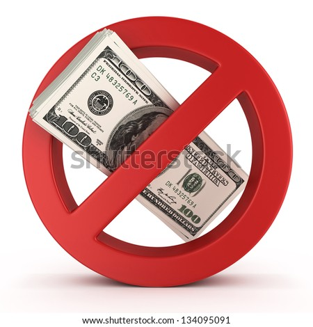 no money concept illustration over white background