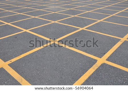no parking cross line symbol on the road surface