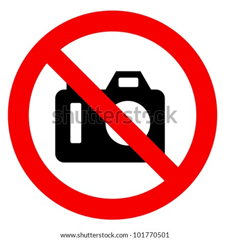 No photography sign isolated - stock photo