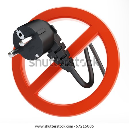 no power sign on a white background