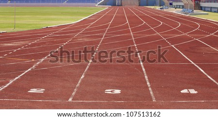 No 2-3-4 runing track in stadium.