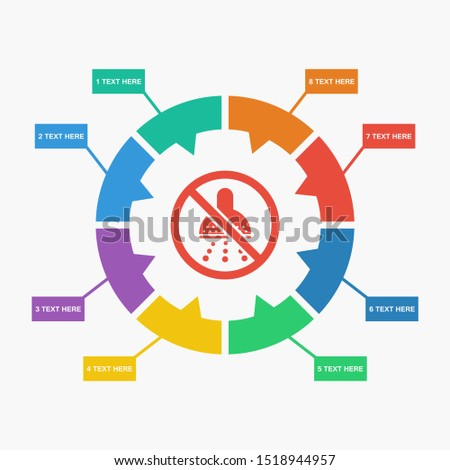 no shower icon to be used for web print and mobile application