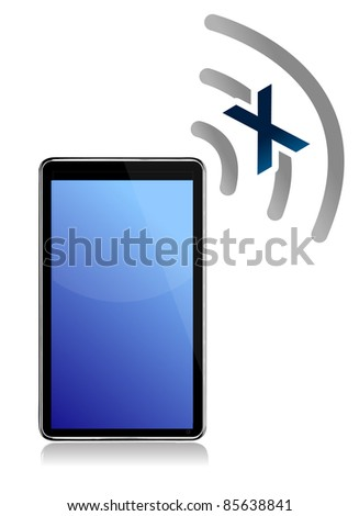 No signal on tablet illustration design