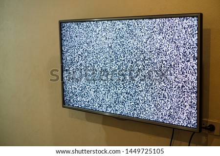 No signal vintage black and white tv screen Images and Stock