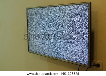 No signal vintage black and white tv screen Images and Stock Photos