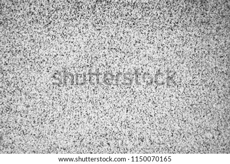 No signal TV texture. Television grainy noise effect as a background. No signal retro vintage television pattern. Interfering signal in analog television. #1150070165
