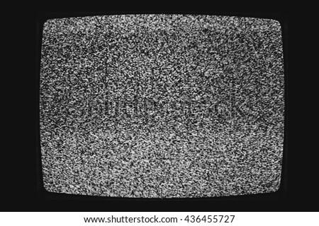 No Signal Vintage Black And White Tv Stock Photo 436455691 Avopixcom