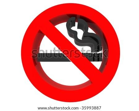 no smoking sign 3d