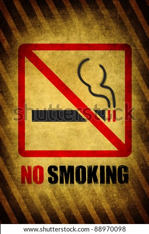 No smoking sign dark vintage style