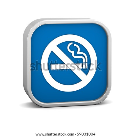 No smoking sign on a white background. Part of a series.