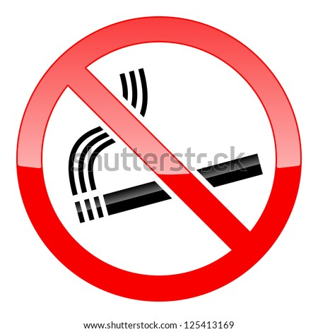 No Smoking Sign on white background. Raster version