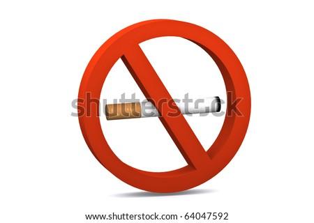 no smoking symbol on white isolated background