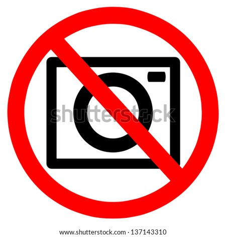 No taking pictures sign - stock photo
