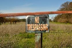 No Trespassing Sign in Rural Area
