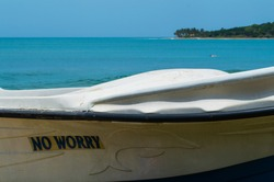 No Worry – Boat at the Beach of Arugam Bay, Sri Lanka