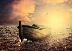 Noah's ark 3D rendering