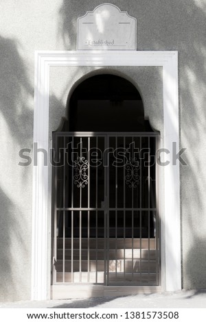Noble entrance, noble gate in Cape Town, South Africa.