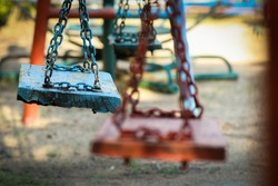 nobody sit on swing in playground