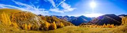 nockberge mountain in austria in autumn