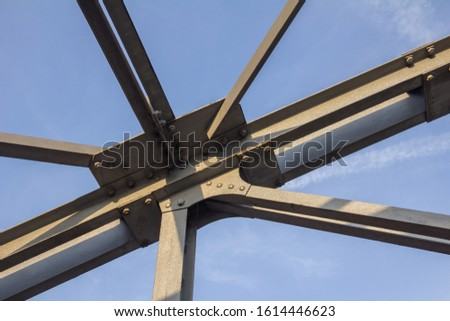 Nodal point of a metal construction