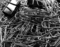 Noir black and white paperclip