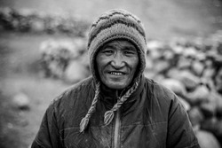Nomad's Smile in Ladakh, India - The life of a Nomad can only be understood when you experience the hardships yourself. Things they had to go through, but still they smile while you shoot them.- Image