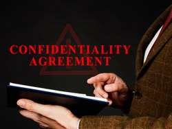 Non-disclosure or Confidentiality agreement in the red folder.