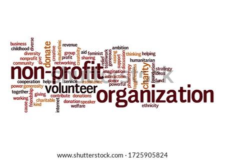 Non-profit organization word cloud concept on white background Stock fotó ©