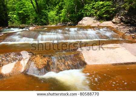 Nonesuch Falls in the Porcupine Mountains Wilderness State Park of Michigan