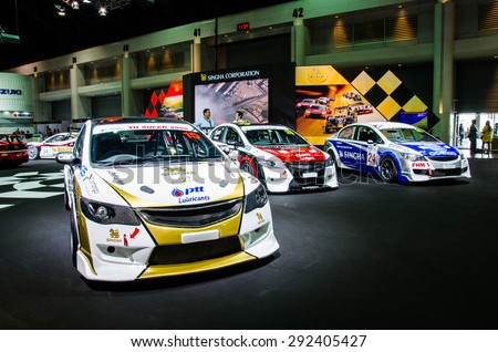 NONTHABURI - JUNE 24 : Racing of Singha Corporation Team on display at Bangkok International Auto Salon 2015 is Exciting Modified Car Show on June 24, 2015 in Nonthaburi, Thailand.