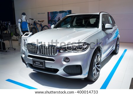 NONTHABURI - MARCH 23: BMW x5 xdrive 40e on display at The 37th Bangkok International Motor show on MARCH 23, 2016 in Nonthaburi, Thailand.