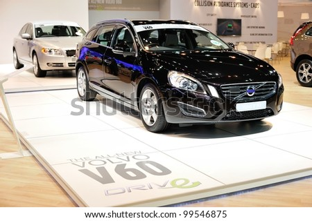 NONTHABURI, THAILAND - APRIL 07: The Volvo V60 in the 33rd Bangkok International Motor Show on April 07, 2012 in Nonthaburi, Thailand.