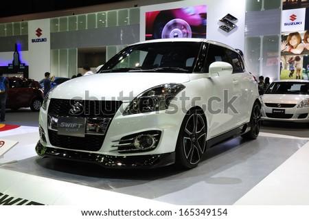 Nonthaburi Thailand November 29 The Suzuki Swift Sport Is On