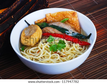 Noodle Soup and asia food