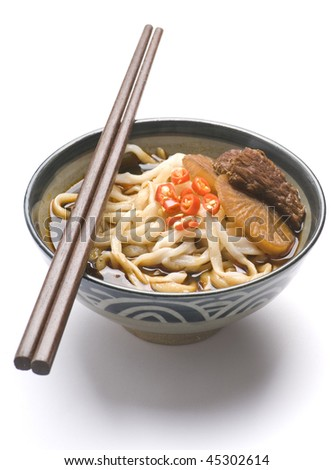 noodle soup asian with beef