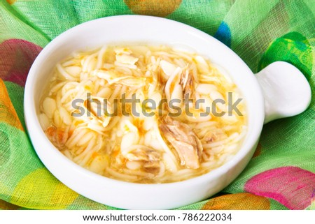 noodle soup with chicken #786222034