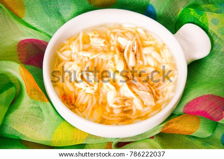 noodle soup with chicken #786222037