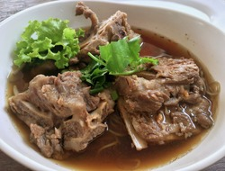 Noodle Soup with Pork Spare Ribs