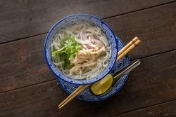 Noodles chicken of Pho Ga Vietnam